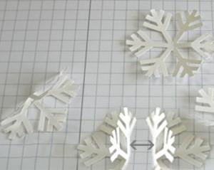 сделать снежинки
