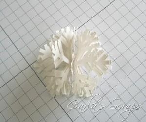снежинка объемная из бумаги