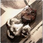 деревянное украшение сова